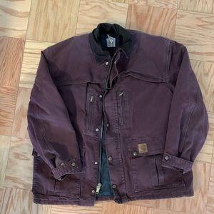 Men's Carhartt Duck Field Jacket in Purple Plum L